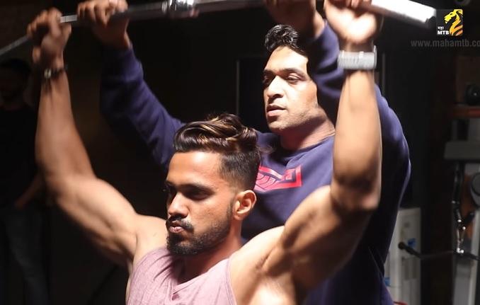 Sagar Amale with Manish Advilkar during a training Season