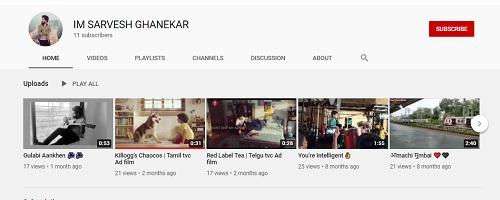 Sarvesh Ghanekar's YouTube Channel