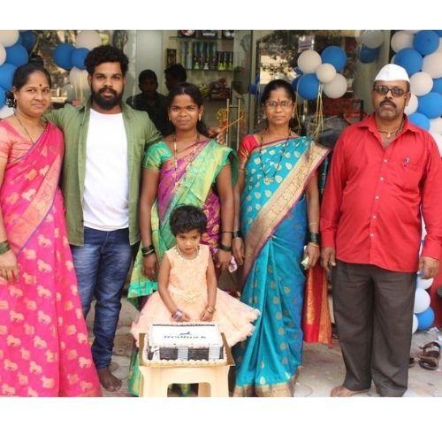 Sarvesh Ghanekar with his Family