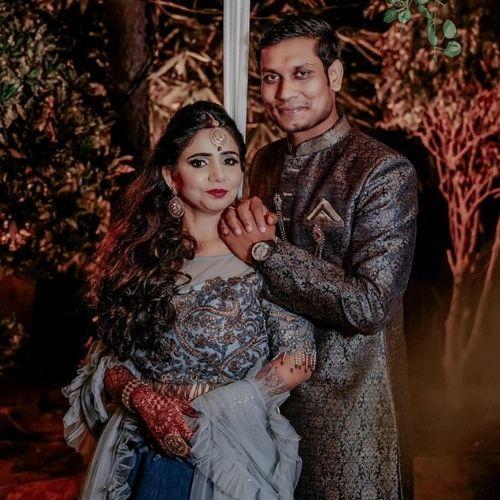 Aastha Jha with her husband Prashant Kumar